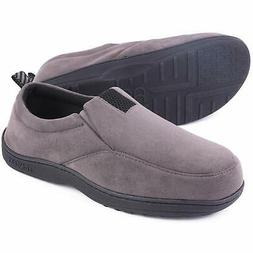 Mens Cozy Memory Foam Slippers Micro Suede Comfy Loafer Hous