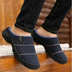 Mens House Winter Warm Slippers Shoes Outdoor Indoor Memory