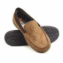 mens moccasin slipper house shoe with indoor