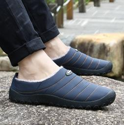 Mens Slip On Flat Shoes Loafers House Living Cotton Slippers