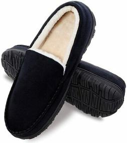 festooning Mens Slippers, House Shoes with Memory Foam,Mocca