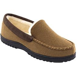 Men�s Wool Micro Suede Moccasin Slippers House Shoes Indoo