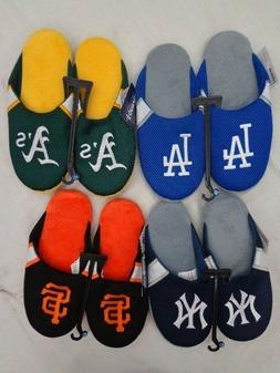 MLB Forever Collectibles Mens Jersey Mesh Slippers House Sho