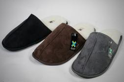 New Men's Easy Slip On Faux Suede Shearling House Slippers S