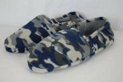 new mens slippers blue gray camouflage small