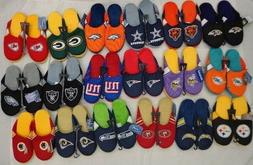 NFL Forever Collectibles Mens Jersey Mesh Slippers House Sho