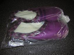 NIB New Men's Purple Slippers House shoes -Size 9 10 XL - In