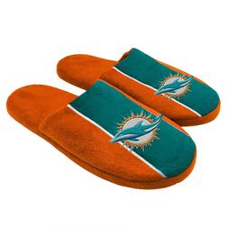 Pair of Miami Dolphins Big Logo Stripe Slide Slippers House