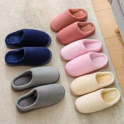Women Men Couple Cotton Slippers Indoor House Winter Warm Fa
